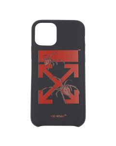 OFF-WHITE c/o Virgil Abloh MENS ARACHNO ARROW IPHONE 11 PRO COVER / 1024 : BLACK BORDEAUX