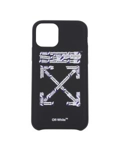 OFF-WHITE c/o Virgil Abloh MENS AIRPORT TAPE IPHONE 11 PRO COVER / 1088 : BLACK MULTICOLOR