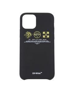 OFF-WHITE c/o Virgil Abloh MENS MULTI SYMBOLS IPHONE 11 PRO COVER / 1060 : BLACK YELLOW