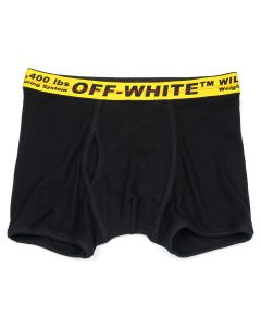 OFF-WHITE c/o Virgil Abloh MENS SINGLE PACK BOXER SHORT / 1060 : BLACK YELLOW