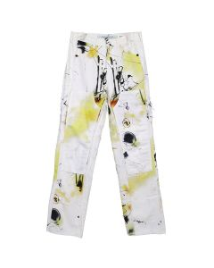 OFF-WHITE c/o Virgil Abloh MENS FUTURA ALIEN CARPENTER PANT / 9988 : ALL OVER MULTICOLOR