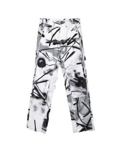 OFF-WHITE c/o Virgil Abloh MENS FUTURA SPRAY CARPENTER PANT / 9910 : ALL OVER BLACK