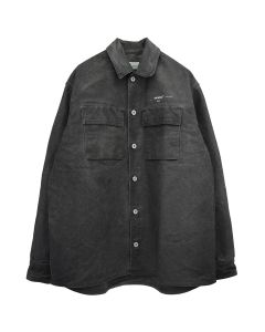 OFF-WHITE c/o Virgil Abloh MENS ARROW OVER DENIM SHIRT / 1002 : BLACK OFF WHITE