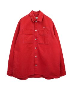 OFF-WHITE c/o Virgil Abloh MENS ARROW OVER DENIM SHIRT / 2002 : RED OFF WHITE