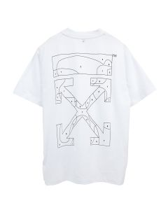 OFF-WHITE c/o Virgil Abloh WOMENS PUZZLE ARROW CASUAL TEE / 0110 : WHITE BLACK