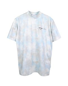 OFF-WHITE c/o Virgil Abloh WOMENS TIE DYE CASUAL TEE / 4010 : LIGHT BLUE BLACK