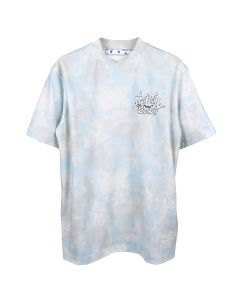 OFF-WHITE c/o Virgil Abloh WOMENS METEOR SHOWER CASUAL TEE / 4001 : LIGHT BLUE WHITE