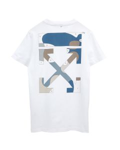 OFF-WHITE c/o Virgil Abloh WOMENS PUZZLE ARROW CASUAL TEE / 0184 : WHITE MULTICOLOR