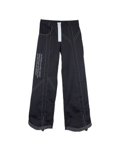 OFF-WHITE c/o Virgil Abloh WOMENS NYLON PARACHUTE PANT / 1001 : BLACK WHITE