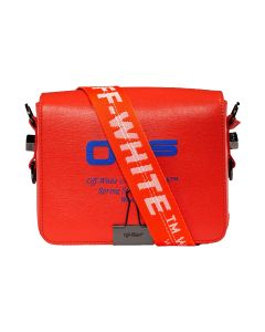 OFF-WHITE c/o Virgil Abloh WOMENS FLAP BAG / 2130 : CORAL RED BLUE