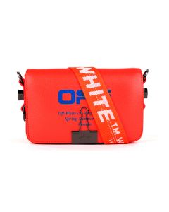 OFF-WHITE c/o Virgil Abloh WOMENS MINI FLAP BAG / 2130 : CORAL RED BLUE