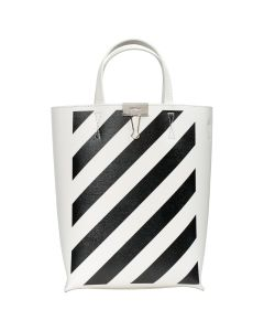 OFF-WHITE c/o Virgil Abloh WOMENS DIAG TOTE BAG / 0210 : OFF WHITE BLACK