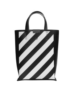 OFF-WHITE c/o Virgil Abloh WOMENS DIAG TOTE BAG / 1001 : BLACK WHITE