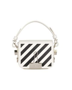 OFF-WHITE c/o Virgil Abloh WOMENS DIAG BABY FLAP BAG / 0210 : OFF WHITE BLACK