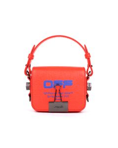 OFF-WHITE c/o Virgil Abloh WOMENS BABY FLAP BAG / 2130 : CORAL RED BLUE