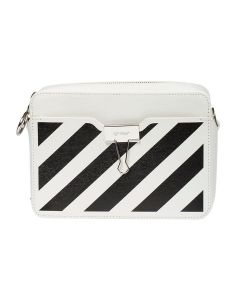 OFF-WHITE c/o Virgil Abloh WOMENS DIAG CAMERA BAG / 0210 : OFF WHITE BLACK