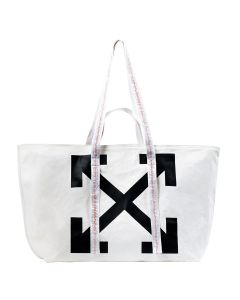 OFF-WHITE c/o Virgil Abloh WOMENS CANVAS COMMERCIAL TOTE / 0210 : OFF WHITE BLACK