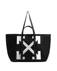 OFF-WHITE c/o Virgil Abloh WOMENS CANVAS COMMERCIAL TOTE / 1001 : BLACK WHITE