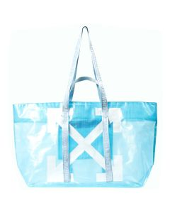 OFF-WHITE c/o Virgil Abloh WOMENS COMMERCIAL TOTE / B301 : BABY BLUE WHITE