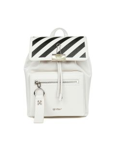 OFF-WHITE c/o Virgil Abloh WOMENS DIAG BINDER BACKPACK / 0210 : OFF WHITE BLACK