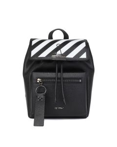 OFF-WHITE c/o Virgil Abloh WOMENS DIAG BINDER BACKPACK / 1001 : BLACK WHITE
