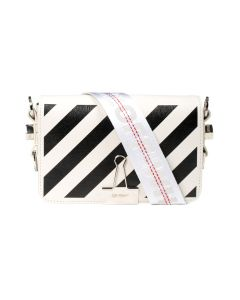 OFF-WHITE c/o Virgil Abloh WOMENS DIAG MINI FLAP BAG / 0310 : OFF WHITE BLACK