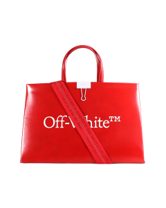 OFF-WHITE c/o Virgil Abloh WOMENS MEDIUM BOX BAG / 2501 : RED WHITE