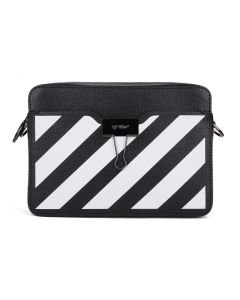 OFF-WHITE c/o Virgil Abloh WOMENS DIAG CAMERA BAG / 1001 : BLACK WHITE