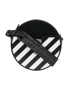 OFF-WHITE c/o Virgil Abloh WOMENS DIAG ROUND BAG / 1001 : BLACK WHITE