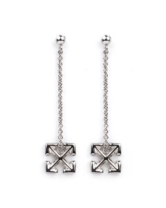 OFF-WHITE c/o Virgil Abloh WOMENS SMALL ARROW PENDANT EARRINGS / 9100 : SILVER NO COLOR