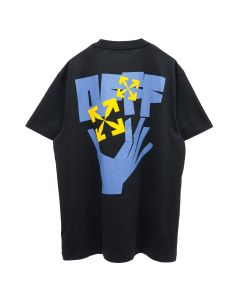 OFF-WHITE c/o Virgil Abloh MENS HANDS ARROWS S/S OVER TEE / 1040 : BLACK LIGHT BLUE