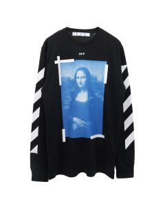 OFF-WHITE c/o Virgil Abloh MENS BLUE MONALISA L/S TEE / 1001 : BLACK WHITE