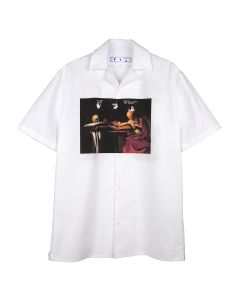 OFF-WHITE c/o Virgil Abloh MENS CARAVAGGIO HOLIDAY SHIRT / 0125 : WHITE RED
