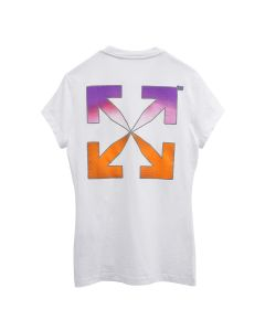 OFF-WHITE c/o Virgil Abloh WOMENS GRADIENT CARRYOVER FITTED TEE / 0184 : WHITE MULTICOLOR