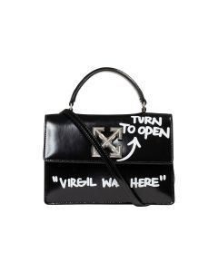 OFF-WHITE c/o Virgil Abloh WOMENS QUOTE JITNEY 1.4 / 1001 : BLACK WHITE