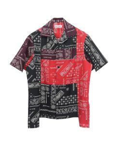 Palm Angels BANDANA PATCHWORK BOWLING SHIRT / 8800 : MULTICOLOR NO COLOR