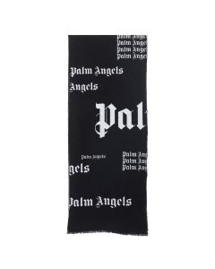 Palm Angels ULTRA LOGO SCARF / 1001 : BLACK WHITE