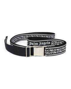 Palm Angels NEW TAPE BELT / 1091 : BLACK SILVER