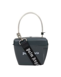 Palm Angels STRAP PADLOCK BAG / 0901 : ANTHRACITE WHITE