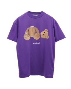 Palm Angels PALM ANGELS BEAR TEE / 3760 : PURPLE BROWN
