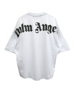 Palm Angels CLASSIC LOGO OVER TEE / 0110 : WHITE BLACK
