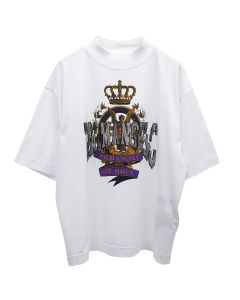 Palm Angels BROKEN ANGEL BOXY TEE / 0184 : WHITE MULTICOLOR