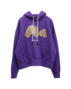 Palm Angels PALM ANGELS BEAR HOODY / 3760 : PURPLE BROWN