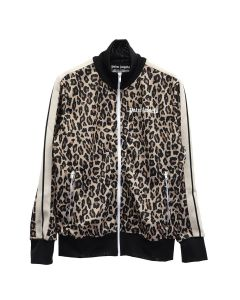 Palm Angels LEOPARD TRACK JACKET / 1801 : YELLOW WHITE