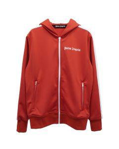 Palm Angels TRACK HOODY / 2901 : SCARLET RED WHITE