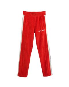Palm Angels CHENILLE TRACK PANTS / 2901 : SCARLET RED WHITE