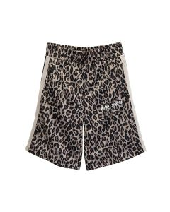 Palm Angels LEOPARD TRACK SHORTS / 1801 : YELLOW WHITE