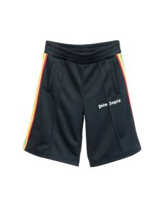 Palm Angels RAINBOW TRACK SHORTS / 1084 : BLACK MULTICOLOR