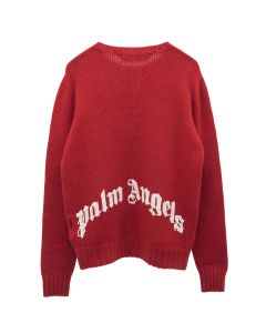 Palm Angels REC LOGO SWEATER / 2501 : RED WHITE
