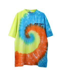 Palm Angels TIE DYE NEW BASIC TEE / 0188 : WHITE MULTICOLOR